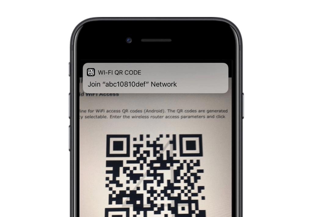La fotocamera dell'iphone con iOS12 legge i codici QR facilmente