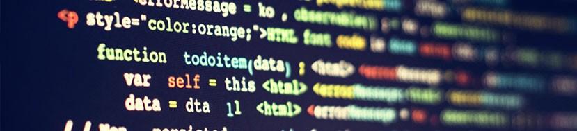 alcune righe di codice a schermo
