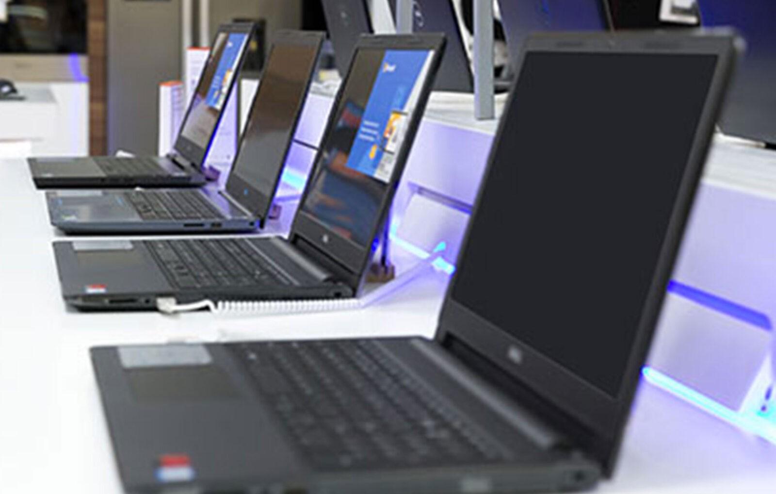 esposizione di computer ricondizionati