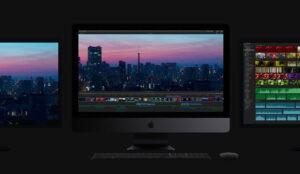 iMac Pro 2020 su fondo scuro